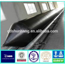 tubo de pontón inflable de goma natural para la instalación del puente