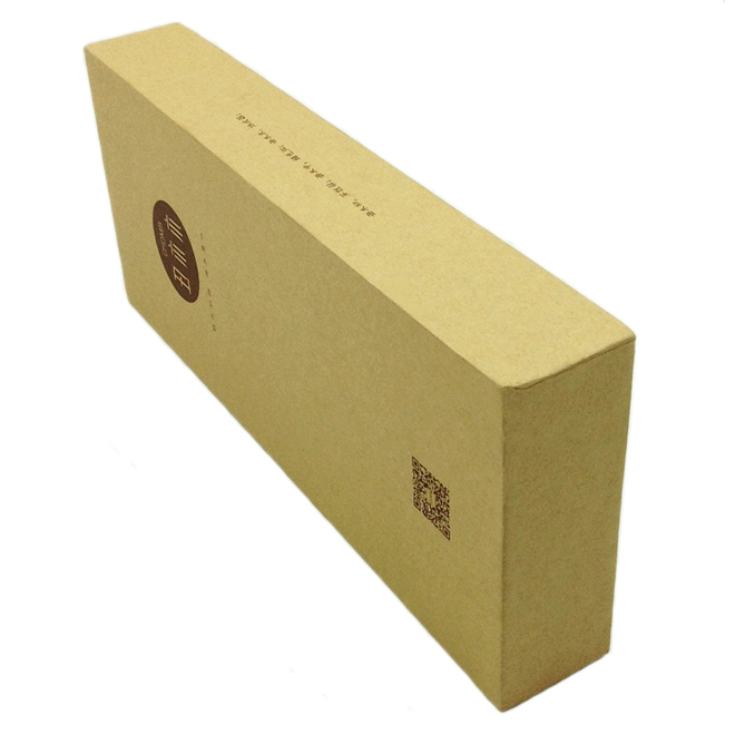 kraft paper rigid base and top gift box