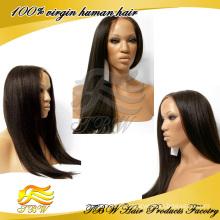 Novo estilo não processado glueless peruca cheia do laço do cabelo humano, brasileiro yaki perucas do laço em linha reta