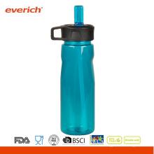 Дешевые пластиковые спортивные бутылки с соломенной крышкой Легкое питье