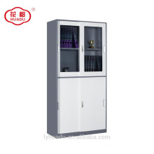 2018 top sliding glass door lower sliding steel door wardrobe office file cabinet