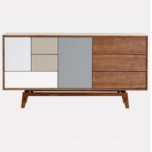 Style Living Room Storage Sideboard with Solid Solid Wood Leg