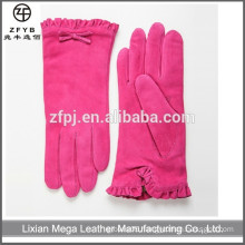 Best selling pink bridal dress pigskin women leather gloves