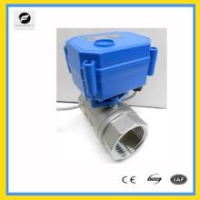 Válvula de motor de atuador elétrico de aço inoxidável DC5V DN20 de 2 vias com relatório de teste internacional NSF61 aprovado