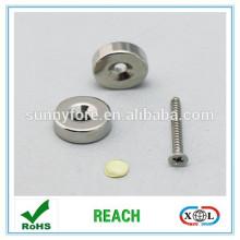 позолоченный никель магнит с отверстие для винта