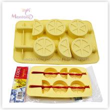 Moule à glace adapté aux besoins du client de glace à l'eau glacée, plateau de glaçon de silicone