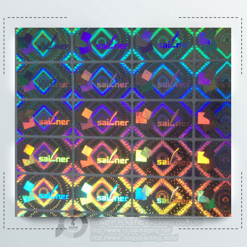 Lithography Anti-counterfeit Hologram Sticker Printed