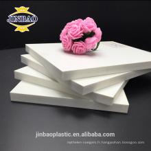 JINBAO blanc couleur 4x8ft 8mm 10mm pvc feuille pvc feuille décorative