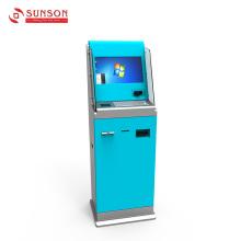 Quiosque de pagamento do scanner de cartão com validador de notas