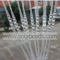 Wedding Tree 47MM&14MM&6MM Wire Crystal Plastic Beaded Garland Trim