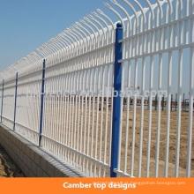 Personalizar os tipos em pó revestido de zinco aço guardrail cerca & portão de segurança / aço zinco ferro forjado cerca decorativa piquete
