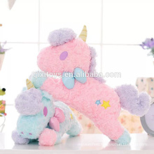 New design custom made funny plush unicorn toys tissue box cover good quality home decoration toys