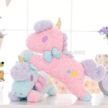 Novo design personalizado feito brinquedos de unicórnio de pelúcia engraçado tampa da caixa de tecido de boa qualidade decoração de casa brinquedos