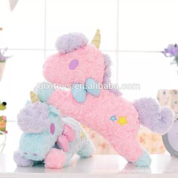 New design custom made funny plush unicorn toys tissue box cover good quality home decoration toys