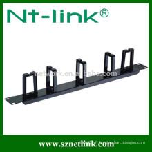 Barre de gestion des câbles de 19 pouces avec anneau en métal 5PCS