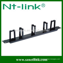 Barra de gerenciamento de cabos de 19 polegadas com anel de metal 5PCS