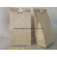 Brown Kraft Paper Bag Baking Bread Packaging Food Paper Bag