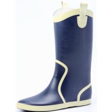 Blue Women Cotton Lining Rubber Rain Boots