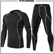 New Style Men Compression Shirt Desporto Fitness Atlético Manga Longa Gym Wear
