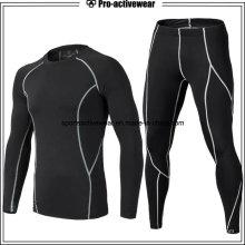 Новый стиль мужчин сжатия рубашка спортивный фитнес спортивный длинный рукав спортзал одежда