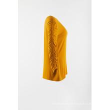 Jersey de manga larga de punto amarillo