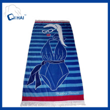 Pure Cotton Tassels Beach Towel (QHB67735)