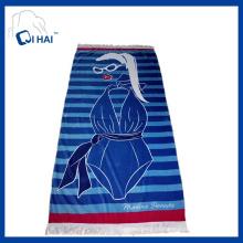 Algodão puro toalha de praia borlas (qhb67735)