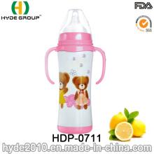 Botella de alimentación más barata del bebé del acero inoxidable 180ml al por mayor (HDP-0711)