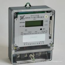 Medidor eletrônico de energia de pré-pagamento de fase única com cartões IC / RF