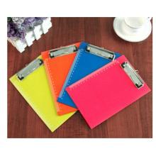 Promotional Singe A4 Folder, Orange Plastic Folder with Clip Customized Logo