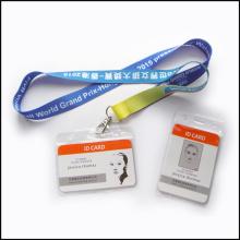Nom personnalisé en plastique de nom de logo / lanière faite sur commande de support de bobine d'insigne de carte d'identité (NLC001)