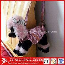 2015 новый дизайн нежный пудель щенка плюшевые игрушки мешок
