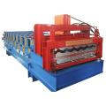 Машина для производства кровельных и стеновых панелей с двойным формованием плитки