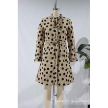 Femmes Vintage Polka Dots Impression Boutons Boutons Jupes