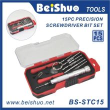 15 PCS S2 liga de aço Screwdriver bit set