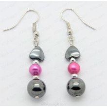 fashion hematite natural pearl earring