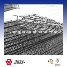 Calentador de aire industrial eléctrico de tubo de aleta espiral