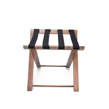 FSC Wood Heavy Duty Folding Luggage Rack For Hotel Supplies
