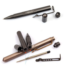 Новый творческий Многофункциональный тактический самообороны ручка с ножом