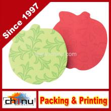 Notas adhesivas, 3 X 3 pulgadas, forma de manzana, colores brillantes surtidos (440059)