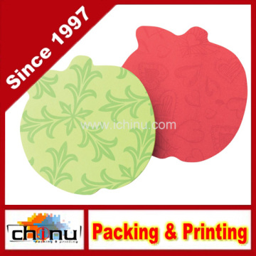 Sticky Notes, 3 X 3-Inches, Apple Shape, Assorted Bright Colors (440059)
