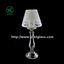Single Glass Candle Holder for Table Ware with Lamp (DIA10*30)