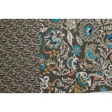 Grass Pattern Grey Background Printed Fabric