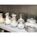 vasos decorativos em mármore branco