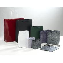 Saco de papel artesanal para embalagem e compras com alça (SW111)