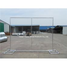 Verzinkte PVC-beschichtete Kettengliederung Fechten / geschweißte temporäre Fechten / Australien Standard Temporäre Zäune