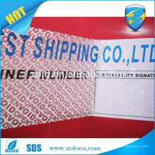 Total transfer security warranty void seal labels/anti counterfeiting void labels