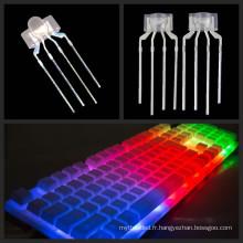 Diode électroluminescente de 238 4pins LED RVB tricolore avec l'espacement 2.54