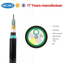 G652D tipo de fibra 1-96 cables de fibra óptica de polvo para exteriores