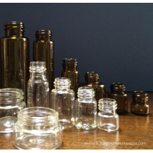 Flacons en verre clair tubulaire mini pour l'emballage cosmétique